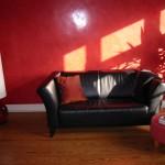 Malermeister Jens Meyer: Wohnzimmerwand mit einer Spachteltechnik