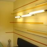 Malermeister Jens Meyer: Wandflächen mit verschieden dicken Farbstreifen